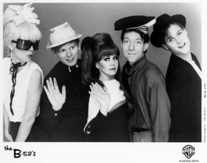 The Whammy!-era B-52's left to right: Cindy Wilson, Ricky Wilson, Kate Pierson, Fred Schneider, Keith Strickland